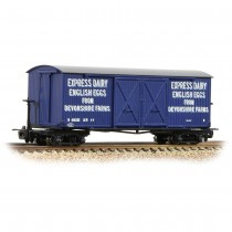 393-029 Bogie Covered Goods Wagon 'Express Dairy Company' Blue OO9 GAUGE