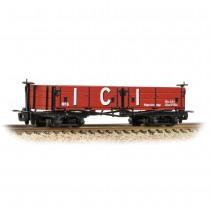 393-056 D CLASS Open Bogie Wagon 'ICI' Red OO9 GAUGE