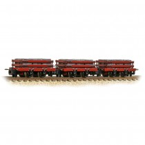 393-076 Slate Wagons 3-Pack Red with Slate Load