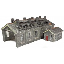 PO337 SETTLE-CARLISLE STATION ENGINE SHED IN STONE OO GAUGE