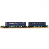 377-353A FIA Intermodal Bogie Wagons 'Malcolm Logistics' 45ft Containers