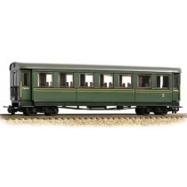 394-002 Steel Bodied Third Bogie Coach Lined Green