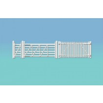 420 GWR STATION FENCING WHITE