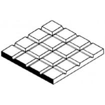 EVG4505 D5 TILE 6.3MM SQUARES 1.0MM THICK