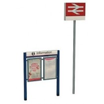 47-548 STATION SIGNAGE SET O GAUGE