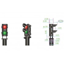 DCD-GS-RG 12x 2-wire Red/Green Ground Signal
