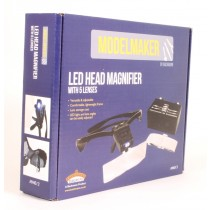 MM013 LED HEAD MAGNIFIER WITH LENSES