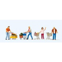 PR10722 Shoppers with Trolleys (4) Exclusive Figure Set