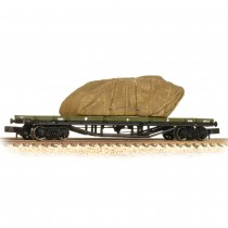 373-928 30 Ton Bogie Bolster WD WW1 Khaki with Sheeted Tank Load