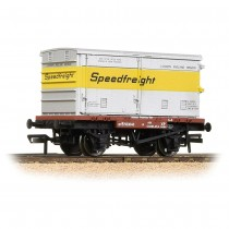 37-991 Conflat Wagon BR Bauxite (Early) With 'Speedfreight' Ventilated BA Container