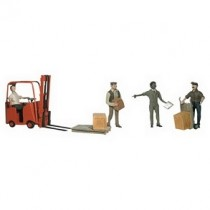 A1911 WORKERS AND FORKLIFT HO/OO GAUGE