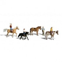 A2159 HORSE AND RIDERS N GAUGE