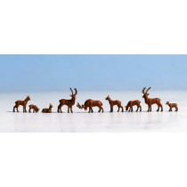 36730 N GAUGE DEER 7 FIGURE SET