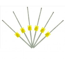LED-YLM Mini Butterfly Type  6x 1.6mm (w/resistors)  Yellow