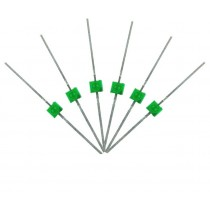 LED-GRM Mini Butterfly Type  6x 1.6mm (w/resistors)  Green