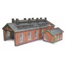 PO313 00/H0 SCALE DOUBLE TRACK ENGINE SHED
