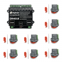 MP1-4018 DR4018 decoder with 8 MP1 point motors multipack