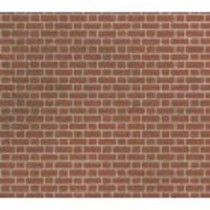 PN100 RED BRICK SHEETS N GAUGE