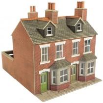 PO261 RED BRICK TERRACED HOUSES OO GAUGE