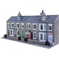 PO275 LOW RELIEF STONE TERRACED HOUSE FRONTS OO GAUGE