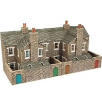 PO277 LOW RELIEF STONE TERRACED HOUSE BACKS OO GAUGE