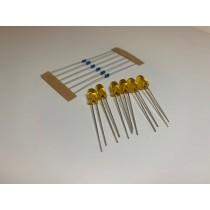 LED-PW5 LED T1 Type (6~12v)  6x 5mm (w/resistors)  Prototype White