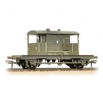 38-404A 25 Ton Pill Box brake van ZTP DS56409 in BR departmental olive green - weathered