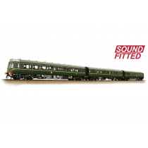 35-500SF Class 117 Car DMU BR Greed Speed Whiskers 3 Car Set (Sound Fitted)