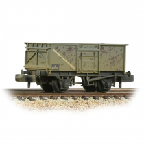 377-277E BR 16T Steel Mineral Wagon with Top Flap Doors BR Grey (Early)