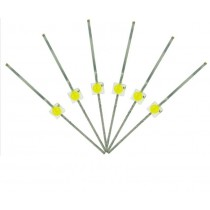 LED-SWM Mini Butterfly Type  6x 1.6mm (w/resistors)  Daylight White