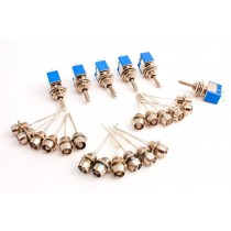 DCP-CMS-SP Cobalt SPDT Switches  Assorted LEDs  (w/Chrome Mountings)