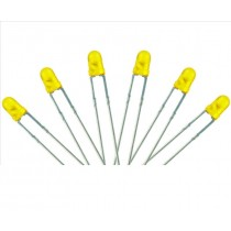 LED-YL3 T1 Type  6x 3mm (w/Resistors)  Yellow