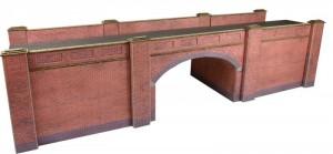 PO246 00/H0 SCALE RAILWAY BRIDGE IN RED BRICK