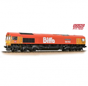 32-741SF Class 66/7 66783 'The Flying Dustman' GBRf 'Biffa' Red Sound fitted