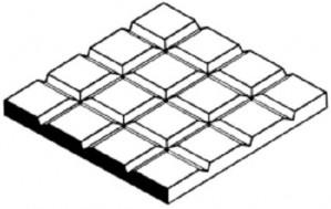 EVG4502 D2 TILE 2.1MM SQUARES 1.0MM THICK