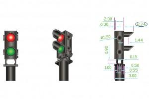 DCD-GS-RG 12x 2-wire Red/Green Ground Signal