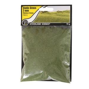 FS614 STATIC GRASS 2MM MEDIUM GREEN
