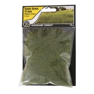 FS626 STATIC GRASS 12MM MEDIUM GREEN