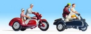 N15905 MOTORCYCLISTS 2 X 2 FIGURE SET