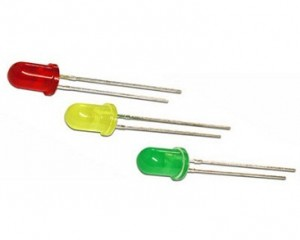A25218 LED 12V FLASHING RED 5MM 5 PACK
