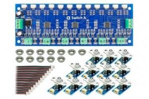 DCD-ASB SWITCH ANALOGUE X12 BLUE