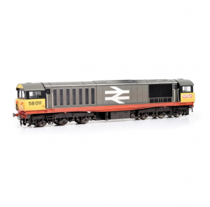Class 58 58011 BR Railfreight (Red Stripe) (Faded paint and logos)