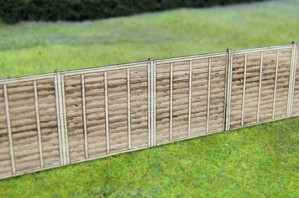 GM451 WOODEN FENCE PANELS OO GAUGE