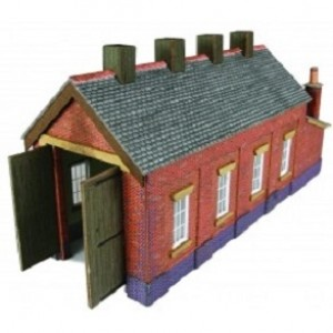 PN931 RED BRICK ENGINE SHED N GAUGE