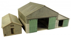 PO252 MANOR FARM BUILDINGS OO GAUGE