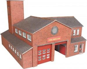 PO289 FIRE STATION OO GAUGE