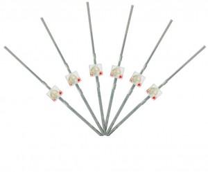LED-RDM Mini Butterfly Type  6x 1.6mm (w/resistors)  Red