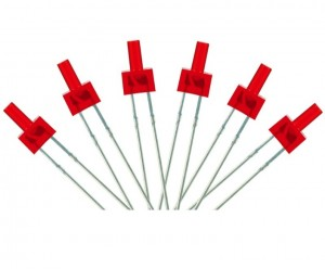 LED-RDT Tower Type  6x 2mm (w/resistors)  Red