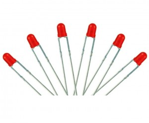 LED-RD3 T1 Type  6x 3mm (w/resistors)  Red