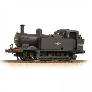 32-235 Fowler Class 3F 0-6-0 (Jinty) 47673 BR Black Late Crest Weathered